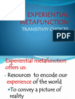 Experiential Metafunction Practical