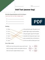 plant unit test answer key
