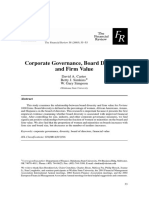 Corporate Governance, Board Diversity