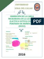 93g-1.Inhibición de La Carga Microbiana en La Lechuga Con Peróxido de Hidrógeno