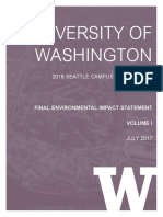 University of Washington Campus Master Plan FEIS Volume I