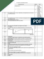 2nd Quarter Test Marking Scheme