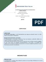 Corto Mediano e Instrumentos Financieros