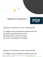 Rate of Reaction Notes