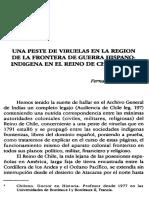 Una Peste de Viruelas. Chile