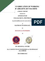 Abrasive Jet Machine-Report