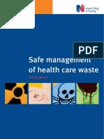Safe Management of Health Care Waste