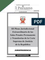 III Pleno Jurisdiccional Extraordinario de Las Salas Penales