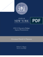 State of New York Budget Agency Presentations2010-2011