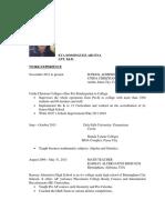 Eva Dominguez Arcena Resume