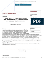 (Patricia Zeni Marchiori, 1997) 'Ciberteca'Ou Biblioteca Virtual_uma Perpectiva de Gerenciamento de Recursos de Informação