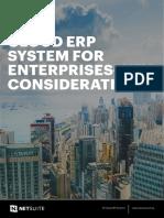 CLOUD ERP SYSTEM FOR ENTERPRISES–KEY CONSIDERATIONS