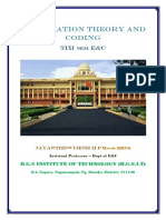 VTU E&CE(CBCS)5th Sem Information theory and coding full notes(1-5 modules)