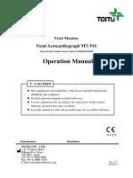 MT-516 Touitu Operation manual