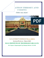 VTU E&C CBCS 5th Sem Information theory and coding Module -1 Notes.