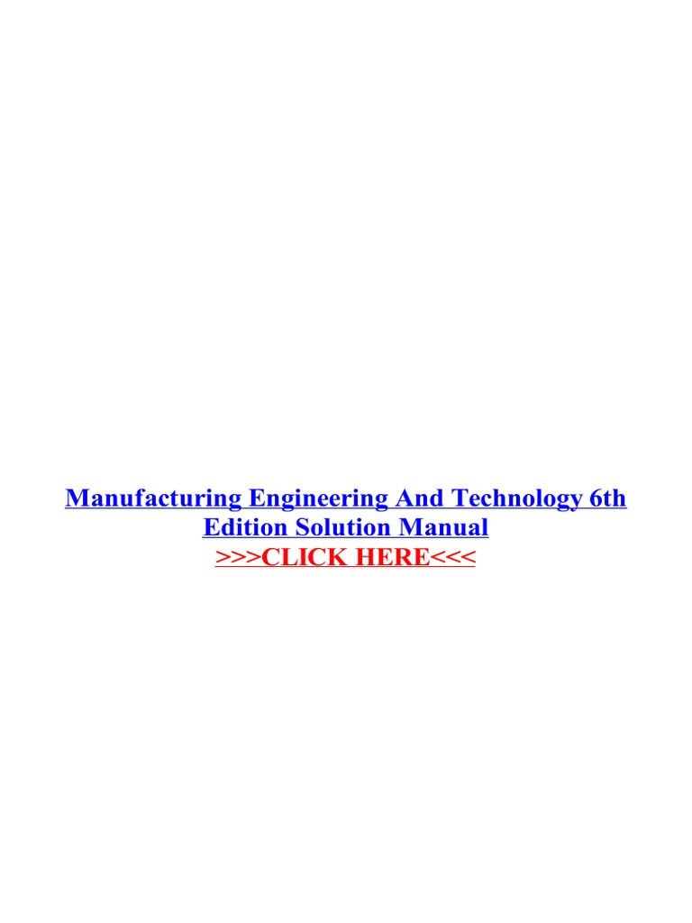 Manufacturing engineering and technology 6th edition solution manufacturing engineering and technology 6th edition solution manual engineering science and technology fandeluxe Images