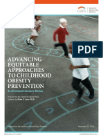 Advancing Equitable Approaches to Childhood Obesity