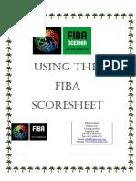 Using Fiba Scoresheet