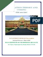 VTU E&C CBCS scheme 5th Sem Information theory and coding Module-4 notes