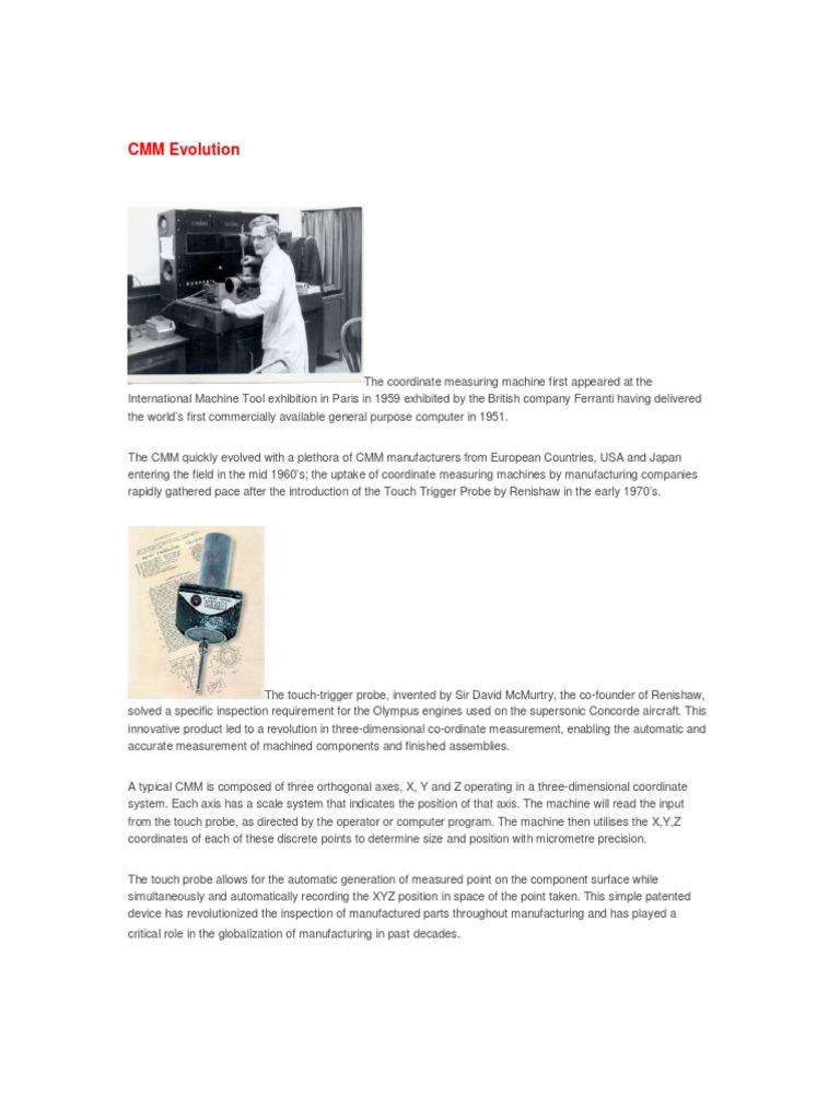 Istoria CMM (in engleza) pdf | Industries | Technology