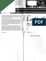 0 [1991] LE GOFF, Jacques. Pensar La Historia. Madrid. Paidós, 2005