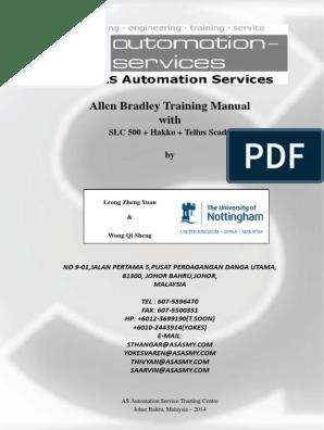 Allen Bradley RSLogix 500 Training Manual | Scada | Device