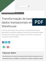 Transformação de bases de dados transacionais em Data Warehouse