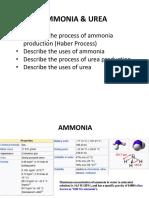 Notes 1a Ammonia and Urea