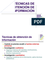 Técnicas de Información de Mercado