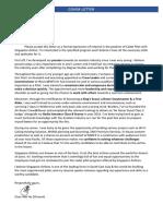 Cadet Pilot Cover Letter