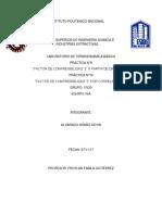 Practica 9 y 10 de termodinámica de las sustancias puras (Laboratorio)