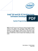 Intel® 64 and IA-32 Architectures Software Developer's Manual Volume 3B