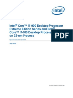 Intel® Core™ i7-900 Desktop Processor Extreme Edition Series on 32-nm Process Specification Update