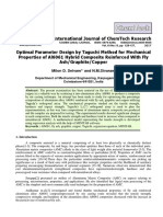 Optimal Parameter Design by Taguchi Method for Mechanical Properties of Al6061 Hybrid Composite Reinforced With Fly Ash/Graphite/Copper