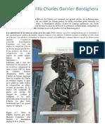 Le Buste de La Villa Charles Garnier-Bordighera