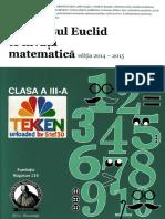 264411216 Carti Concursul Euclid Te Invata Matematica Clasa 3 Ed Aktis Kogaion TEKKEN