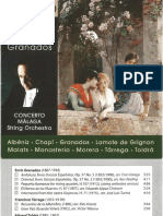 BOOKLET CD Serebrier Conducts Granados. Concerto Málaga. SOMM Recordings