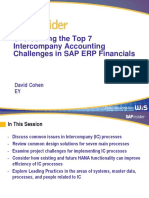 SAP Intercompany Issues and Resolutions