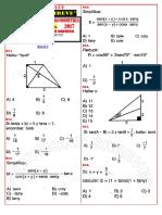 ficha de ejercicios de trigonometría N°05 1°  de secundaria
