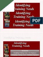 Identif Ing Training Needs