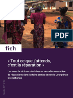 Quelles réparations pour les victimes des crimes de Jean-Pierre Bemba en République centrafricaine ?