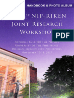 Handbook of the 1st NIP-RIKEN Joint Research Workshop