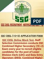 SSC CHSL Recruitment Notification 2017 - 18