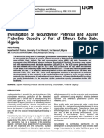 Investigation of Groundwater Potential and Aquifer Protective Capacity of Part of Effurun, Delta State, Nigeria