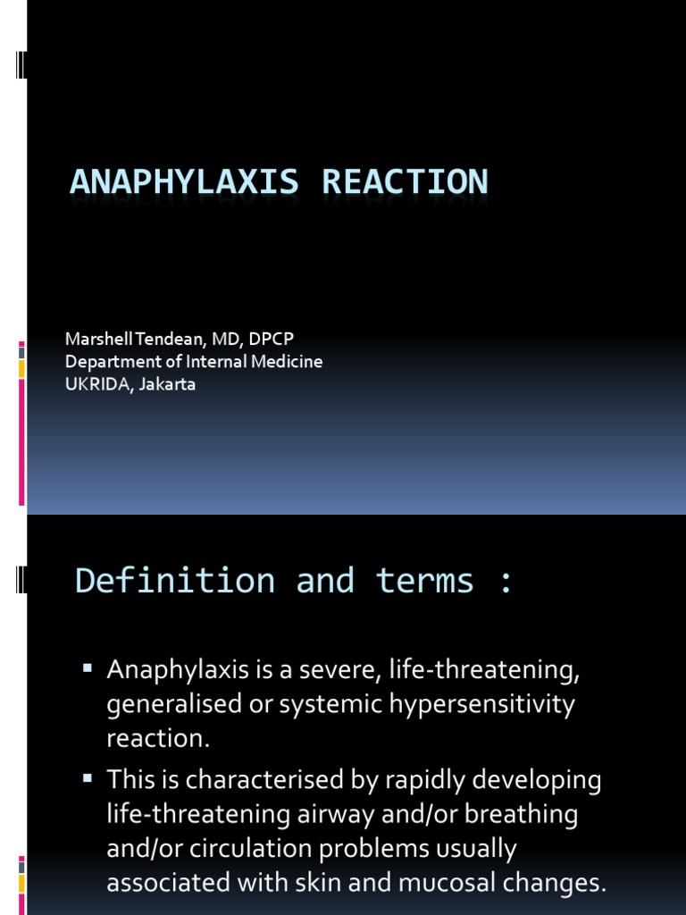anaphylaxis reaction (1) | allergy | immune system