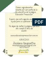 Agenda Preescolar 2016