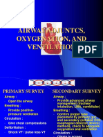 Airway Adjuncts, Oxygenation, And Ventilation