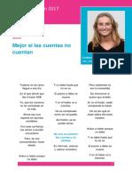 """""""Mejor si las cuentas no cuentan"""", áccesit de Las Cuentas Cuentan 2017"""