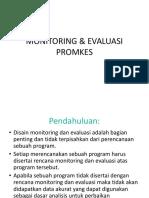 Monitoring Evaluasi Promkes