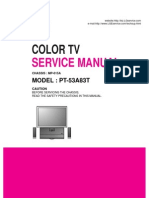 LG Color TV Service Manual for Models PL48A82T MP-015A PT-53A83T